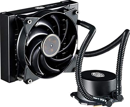 Cooler Master MasterLiquid Lite 120 CPU Liquid Cooler - Dual Dissipation Pump and 120 mm Air Balance...