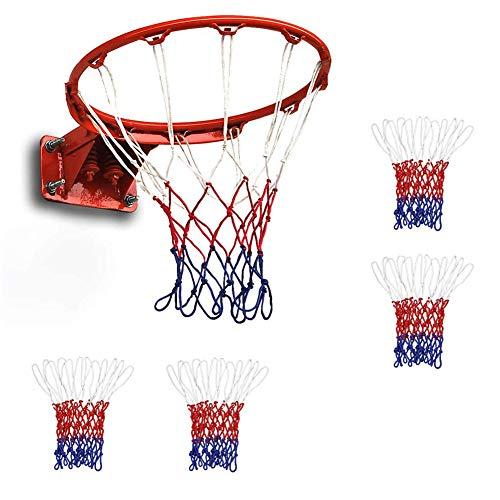 QWEPU 4pcs Rete per Canestro da Basket Goal, Pieghevole da Parete per Interni Esterni Bambini .Rete da Basket Standard in Nylon