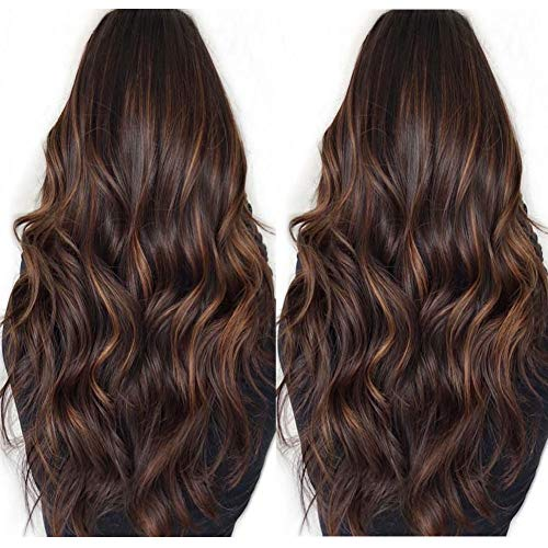 Highlights Color Human Hair Wigs Body Wave Glueless Ombre Lace Front Wigs For Black Women Brazilian Hair Ombre Wigs 130% Density 18inch