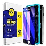 SmartDevil [2 Stück für iPhone SE 2020/8/7 Panzerglas Schutzfolie, Anti Blaulicht Schutzfilm, 3D-Volldeckung, 9H-Festigkeit, Anti-Kratzen, Bildschirmschutzfolie mit Positionierhilfe [4.7 Zoll]