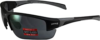 Global Vision Hercules 7 Safety Sunglasses with Black/Gray Frames and Smoke Lenses ANSI Z87.1+