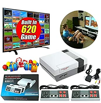 Tota Retro Game Console Mini Game Console Childhood Game Consoles Built-in 620 Game Some are Repeated  Dual Control 4-Bit Handheld Game Player Console for TV Video Bring Happy Childhood Memories