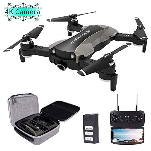 GPS Drones with Camera 4K for Adults, le-idea IDEA20 5GHz WiFi FPV Live Video with Adjustable Wide-Angle Camera and GPS Return Home Quadcopter, Follow Me Altitude Hold Headless Mode RC Helicopter