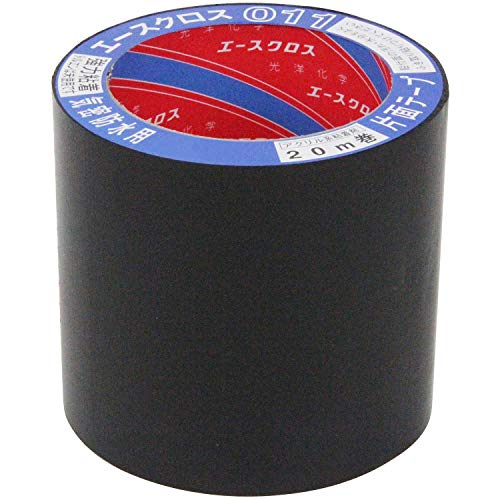 光洋化学 気密防水テープ エースクロス アクリル系強力粘着 片面テープ 011 黒 100mm×20m 18巻セット