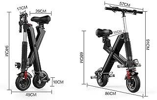 Lunzi Scooter eléctrico ligero plegable para silla de ruedas, bastidor de aleación de aluminio de bicicleta de ciudad plegable ultra liviana de 240 vatios, velocidad máxima de 20 km/h para adultos,