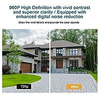 監視カメラ、動き検出1080PHDセキュリティカメラ広角マイクスピーカー付きアパートforHome