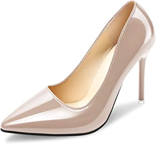 Padgene Women's Pumps Shoes Stiletto Pointed Toe Wedding Party Basic High Heels