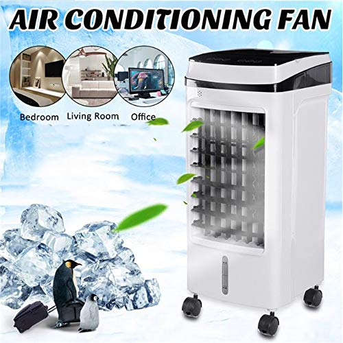KIRA Klimaanlage Luftkühler Ventilator Mit Fernbedienung Tragbares Design Luftkühler Schnelle Abkühlung Luftbefeuchtung 3 Geschwindigkeiten Perfekt Für Arbeitsplatz Und Daheim