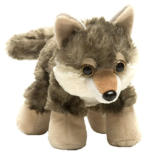 Wild Republic Hug'ems Plush, Wolf Cuddly Soft Toy, Kids Gifts, 18 cm Peluche a Forma di Lupo, per Bambini, Colore, 16244