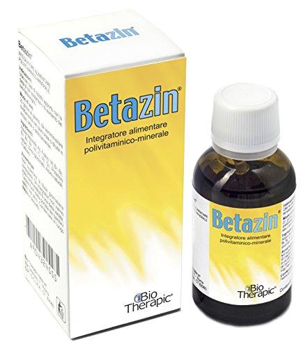 BETAZIN | Vitamine e Minerali in Formula per Bambini | con Iodio e Zinco per le Difese Immunitarie | Flacone da 30 ml con Contagocce Incorporato | 1 Confezione