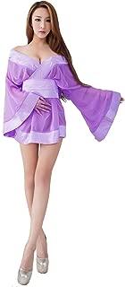 Mesh See-Through Semi-Transparent Japanese Kimono Costume Robe