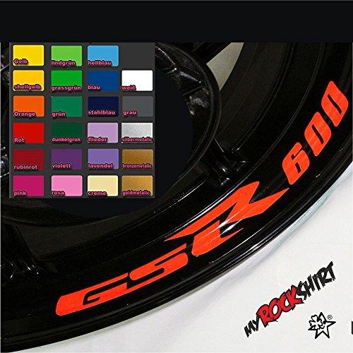 myrockshirt 4X Suzuki GSR 600 Felgen-Innenrand-Aufkleber Felgenrandaufkleber Innrandaufkleber Motorrad Bike Tuning Sticker Aufkleber