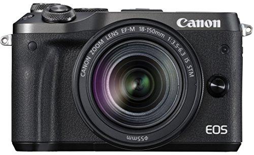 Canon ミラーレス一眼カメラ EOS M6 レンズキット(ブラック) EF-M18-150mm F3.5-6.3 IS STM付属 EOSM6BK-18150ISSTMLK