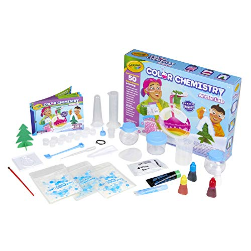 Image of the Crayola Arctic Color Chemistry Set for Kids, Steam/Stem Activities, Educational Toy, Ages 7, 8, 9, 10, Multicolor