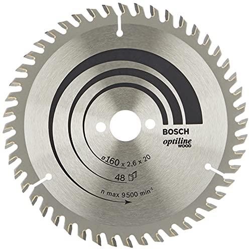 Bosch Professional 2 608 640 732 Bosch 732-Hoja de Sierra Circular Optiline Wood-160 x 20/16 x 2,6 mm, 48 (Pack de 1), 0 W, 0 V
