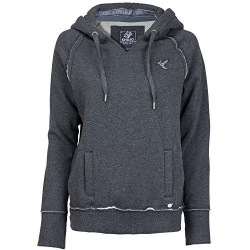 Khujo, Damen Kapuzensweatshirt, Santja (M/38, Dark Grey)