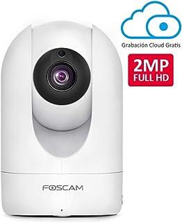 Foscam R2M 2MP Cámara IP WiFi Seguridad AI Detección Humana Visión Nocturna Compatible con Alexa (P2P 1080p ONVIF)