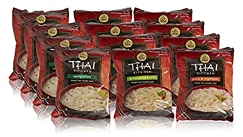 Thai Kitchen Instant Rice Noodle Soup Variety Pack Gluten Free Ramen Ready in 3 Minutes 1.6oz Thai 19.2 Ounce  Pack of 12