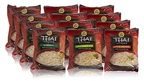 Thai Kitchen Instant Rice Noodle Soup Variety Pack, Gluten Free Ramen, Ready in 3 Minutes, 1.6oz (Pack of 12)