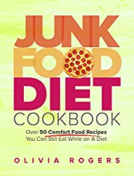 Image: Junk Food Diet Cookbook: Over 50 Comfort Food Recipes You Can Still Eat While on A Diet | Kindle Edition | by Olivia Rogers (Author). Publisher: TheMenuAtHome.com (April 23, 2015)