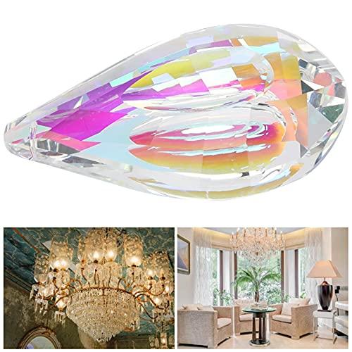 Pingente de cristal, ornamento de lustre requintado e bonito, firme e durável, 76 mm, pingente de cristal colorido para escritório para casa