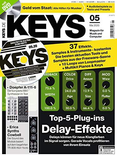 Top 5 Plug-ins Delay Effekte und 37 Effekte Samples und Instrumente auf der KEYS DVD