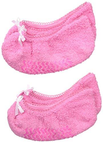 Jefferies Socks für Mädchen, Fuzzy Footie Socken, 2 Paar - Pink - Klein