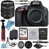 Nikon D5600 24.2MP DSLR Digital Camera with NIKKOR 18-55mm VR Lens + SanDisk 32GB Memory Card + Hi-Speed USB Card Reader + Tripod + Accessory Bundle (17 pcs Bundle)