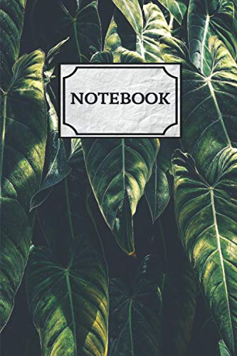 Tropical Palm Leaves Notebook: Beautiful Lush Greenery Gardening Diary, Wide Ruled 6 x9 Lined Vacation Journal