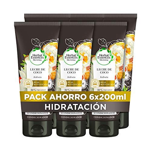 Herbal Essences bio:renew Leche De Coco Hidratación Acondicionador, En Colaboración Con El Real Jardín Botánico De Kew 6 x 200ml
