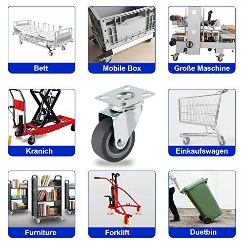 51M7QPP0utL - YAOBLUESEA Ruedas de Transporte de transporte Ruedas cargas pesadas rollos de muebles (12 piezas Ø 50 mm, 40 kg por rueda)