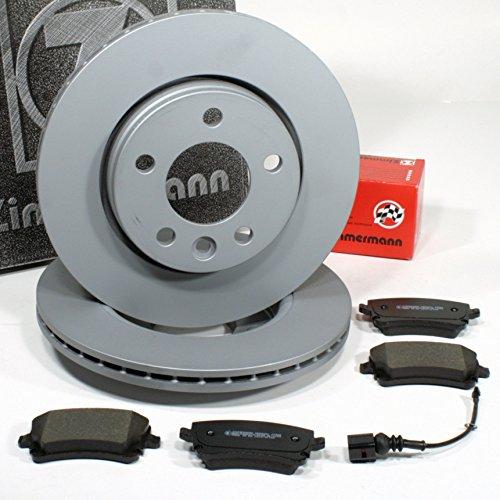 Zimmermann Bremsscheiben Ø 294 mm Coat Z/Bremsen + Bremsbeläge für hinten/die Hinterachse
