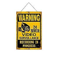 進行中の警告録音木製のリストプラーク木の看板ぶら下げ木製絵画パーソナライズされた広告ヴィンテージウォールサイン装飾ポスターアートサイン