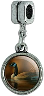 GRAPHICS & MORE Canada Canadian Goose Italian European Style Bracelet Charm Bead