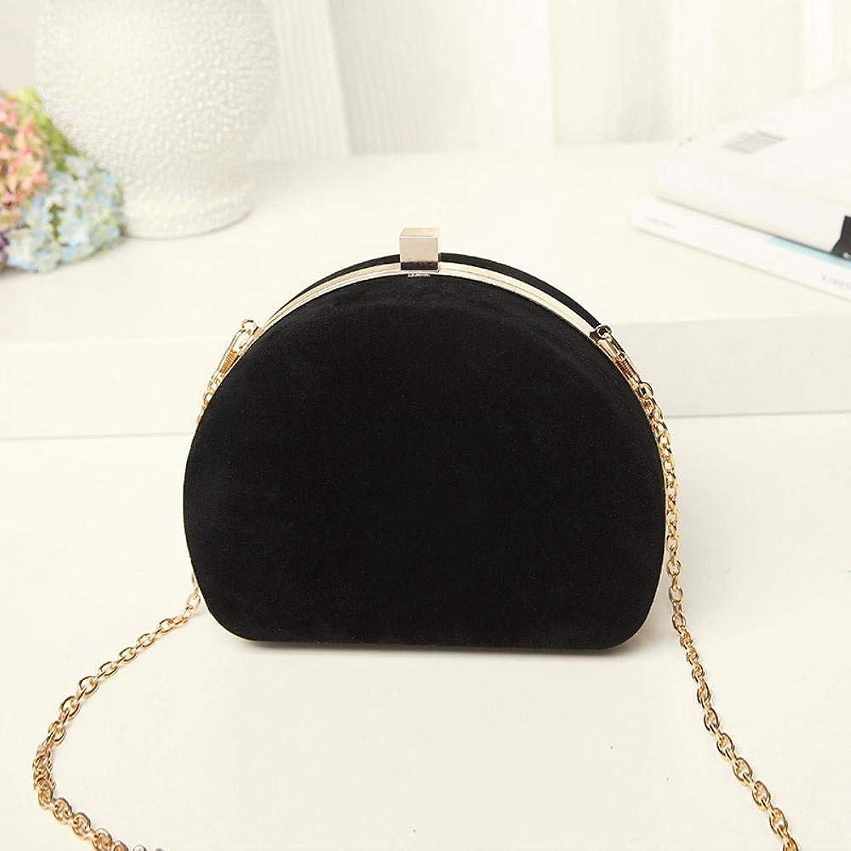 Girls Purse Women's Wallet,Chain Bag Abrasive Shoulder Bag PU Leather (color   A)