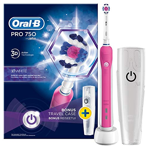 Oral-B PRO 750 3DWhite Elektrische tandenborstel voor volwassenen, 330 g, 100 mm, 178 mm, 253 mm, 490 g, 1 stuk