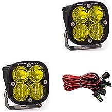 Baja Designs Squadron Sport Pair UTV LED Light Driving Combo Amber Pattern