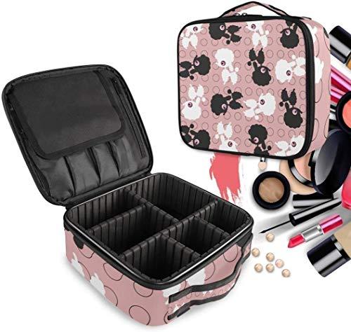 Cosmetische HZYDD zwart wit schapen make-up tas toilettas rits make-up zakken organizer zak voor gratis vak vrouwen meisjes tas