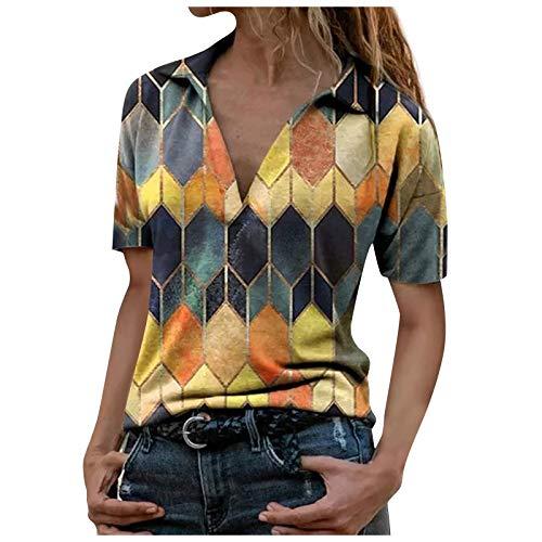 MORCHAN Femmes de la Mode 3D imprimé à Manches Courtes T-Shirt Haut Chemise décontractée d'été