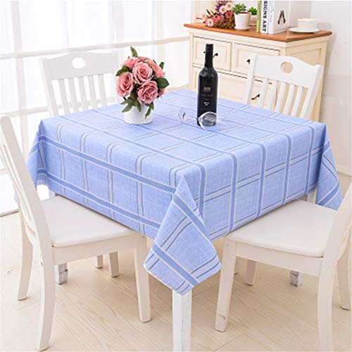 Oukeep wasserdichte Und Ölbeständige Tischdecke Einfache Tischdecke Aus PVC-Kunststoff Geeignet Für Garten, Wohnzimmer, Couchtisch, Platz