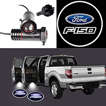 2PCS LED Projection Logo Shadow for Ford F150 Car Door Welcome Light Door Light Projector DIY Step Light Symbol Sign Badge  for Ford F150