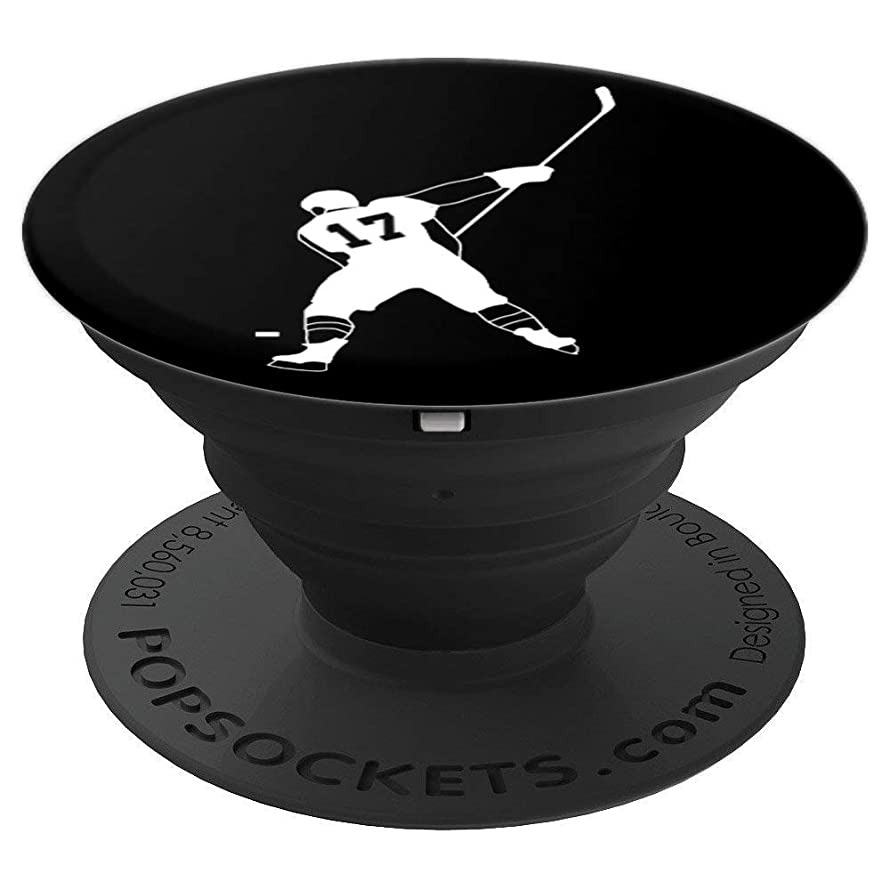 #17, Number 17, Gift for Hockey boys, girls, women, men - PopSockets Grip and Stand for Phones and Tablets