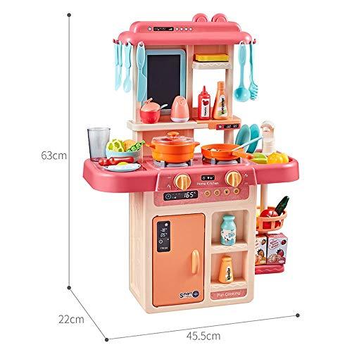InChengGouFouX Frühkindliche Küche Spielzeug Pretend Toy Kochgeschirr for große Kinderküche Kochrollenspiele Kindergarten und Kindergarten Küche Spielzeug (Color : Red, Size : 63x45.5x22cm)