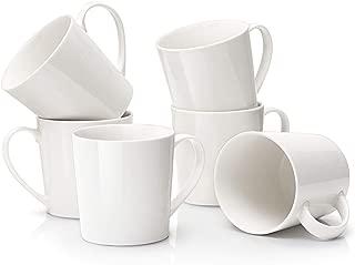 DOWAN Coffee Mug Set, 18oz Large Handle Coffee Mug Set of 6, Ceramic Mug for Coffee, Tea, Cocoa, and Mulled Drinks, Ivory