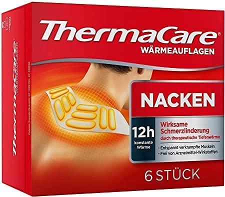 ThermaCare selbstheizendes Patch, für Nacken, Schulter und Handgelenk, lindert Nackenschmerzen, 16 St konstante Wärme, 6 Stück