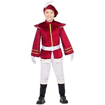 My Other Me Disfraz de PAJE Real Granate para niño: Amazon.es ...