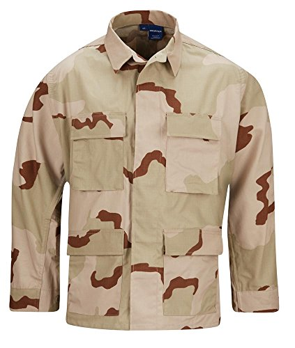 Propper Men's Bdu Coat - 100% Cotton, 3-Color Desert, 3X Large Long