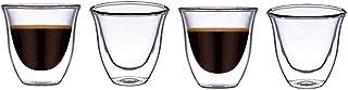 BLACKSTONE DOUBLE WALL GLASS CAWA CUPS DG501 70ML 4PC SETطقم فناجين قهوة فنجان