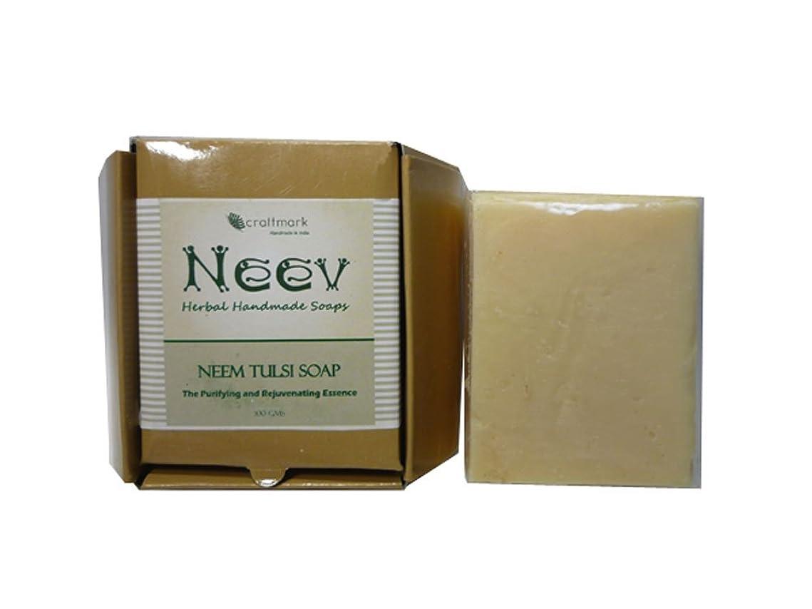散らすリブ推測する手作り ニーブ ニーム&トゥルシ ソープ NEEV Herbal NEEM TULSI SOAP