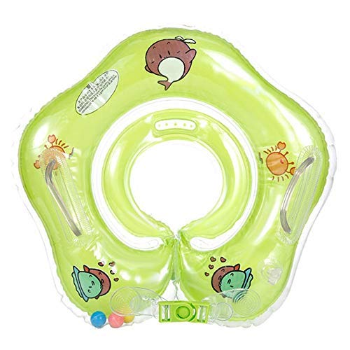 WMYATING Anillo de natación, boya salvavidas, inflable, deportes acuáticos de dibujos animados anime llavero anillo de natación anillo de seguridad flotador círculo piscina baño inflable (color verde)